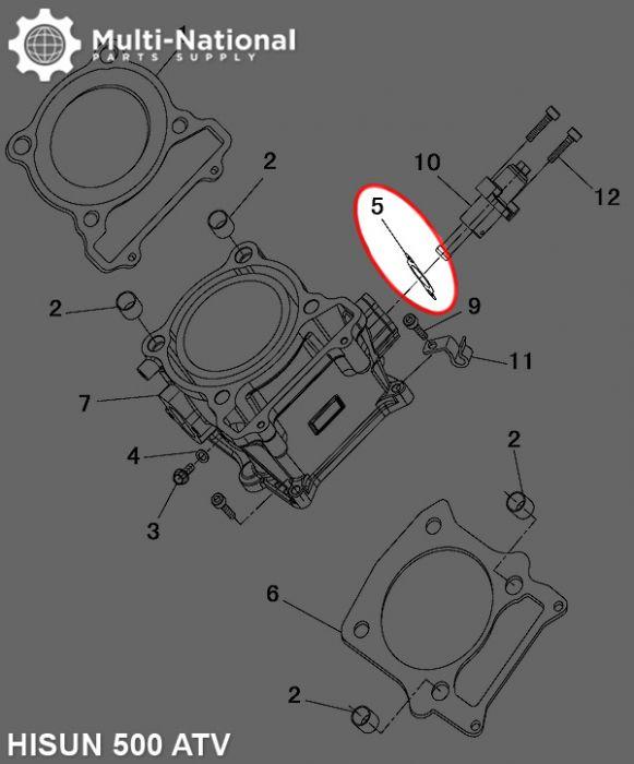 Tensioner Gasket - Hisun, 400-500cc, ATV/UTV