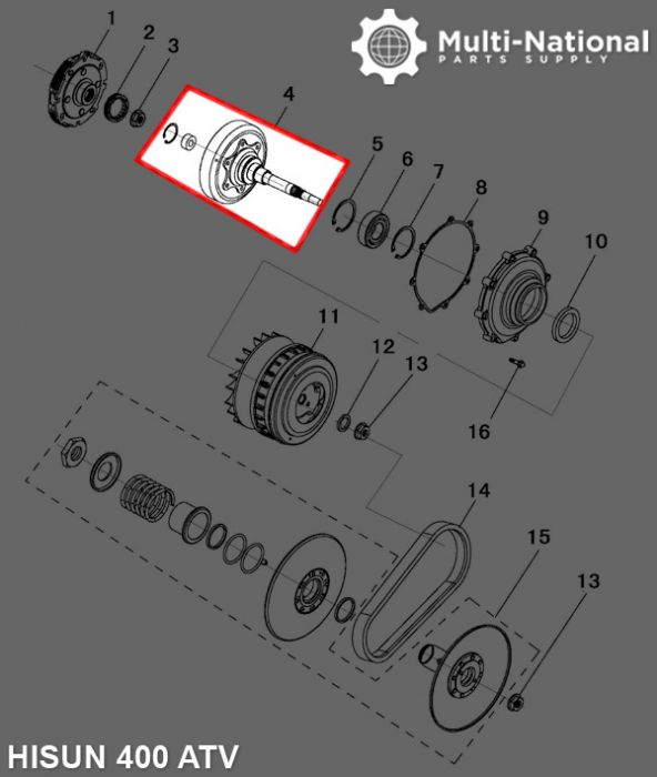 Clutch - Cover, ATV, Yamaha, Hisun, 400cc