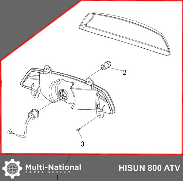 Rear Light - ATV, Hisun, 800cc