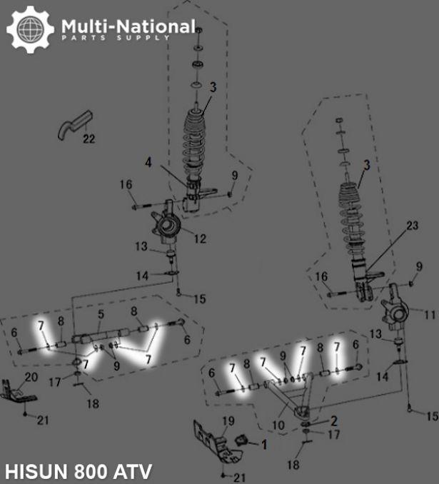Swing Arm Cap - ATV/UTV, Hisun, 400-800cc
