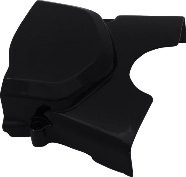 Engine Cover - 50cc to 160cc, Automatic, Left Back, Black