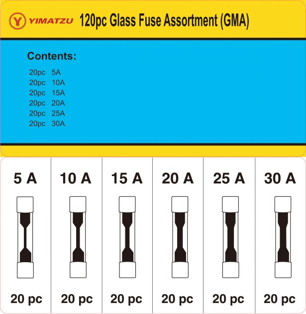 Glass Fuse Kit - GMA Glass Auto Fuse Assortment (120pcs)