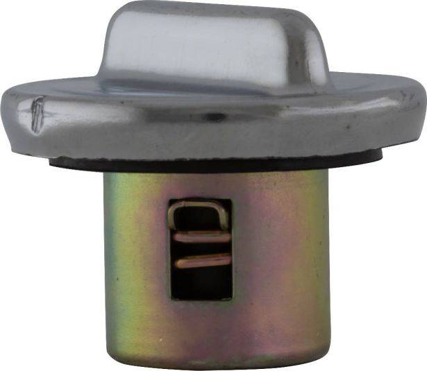 Fuel Tank Cap - Metal, Chrome