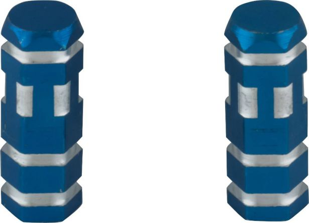 Valve Stem Caps - Blue