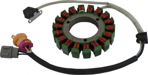 Stator - Magneto Coil, 18G, 5 Wire, 400cc, Jianshe