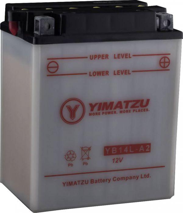 Battery - YB14L-A2 Yimatzu, SLA, Maintenance Free