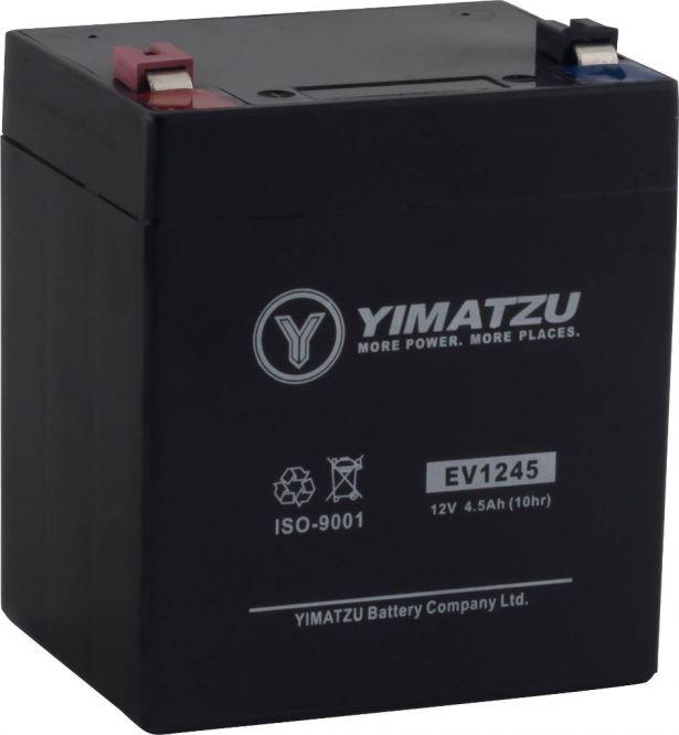 Battery - EV1245, 12V 4.5AH, Yimatzu