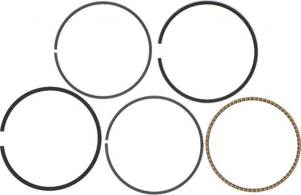 Piston Rings - Top, Second, Oil, 75mm, 250cc, ATV, Jianshe, Baja