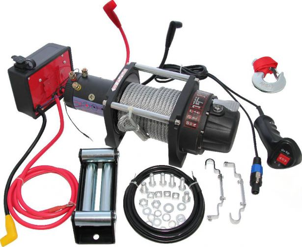 Winch - MNPS 6000lb, 12 Volt, Cabled Switch