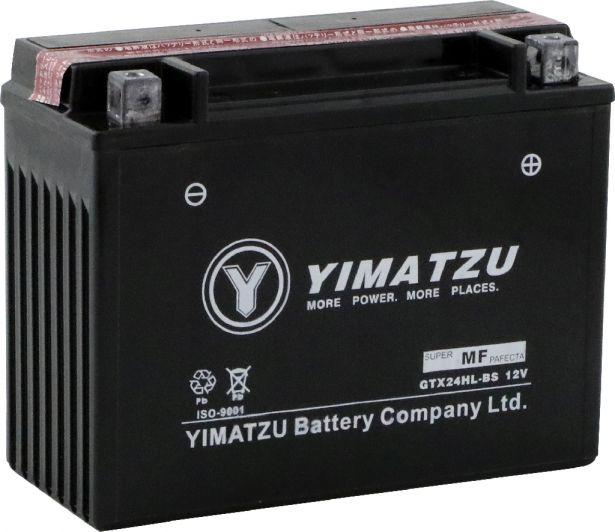 Battery - GTX24HL-BS Yimatzu, AGM, Maintenance Free