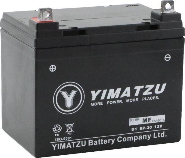 Battery - U1 SP-30 Yimatzu, AGM, Maintenance Free