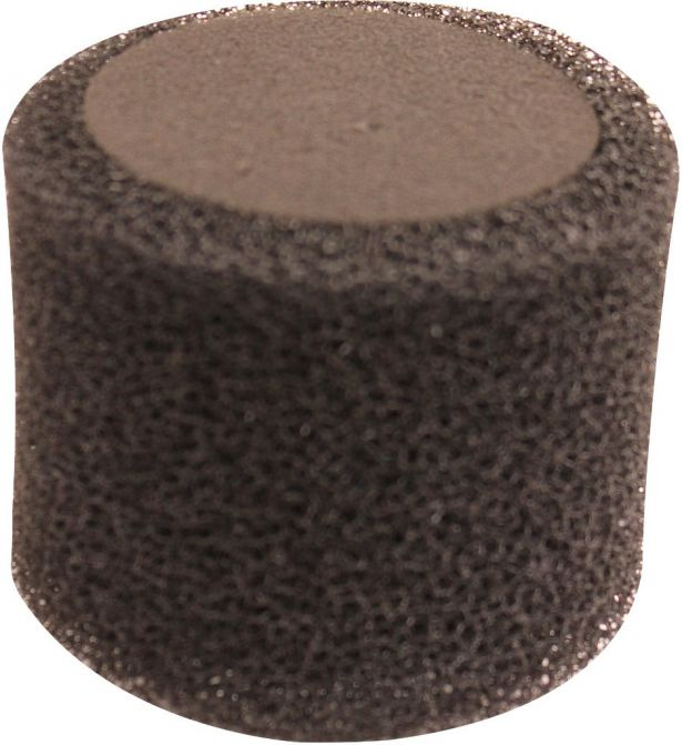 Air Filter - 38mm, Sponge, Straight, Yimatzu Brand, Black