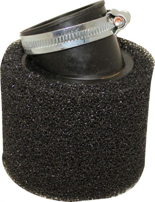 Air Filter - 44mm, Sponge, Angled, Yimatzu Brand, Black