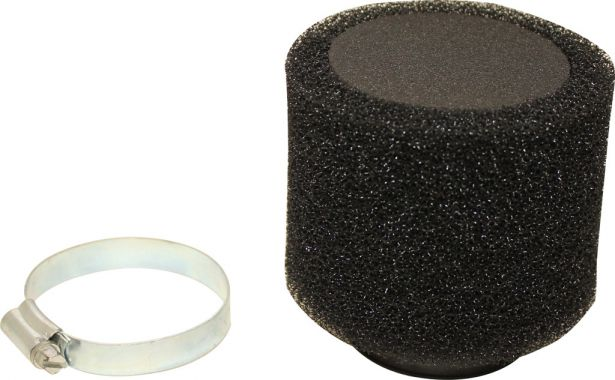 Air Filter - 48mm, Sponge, Straight, Yimatzu Brand, Black