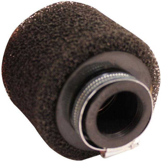 Air Filter - 35mm, Sponge, Straight, Yimatzu Brand, Black