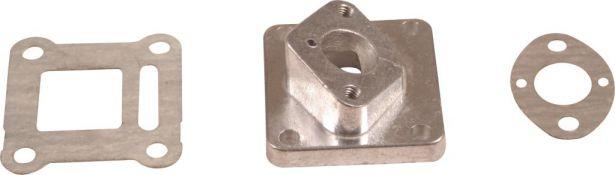 Intake - 15mm, 2 Stroke, Aluminum, 3pc