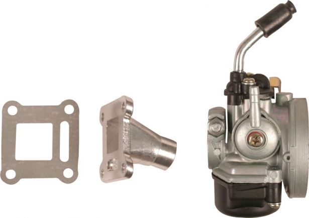 Carburetor - 15mm, Performance, Intake and Gasket Set