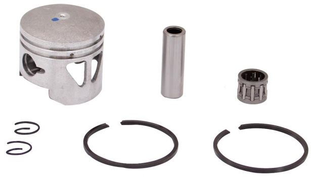 Piston and Ring Set - 47cc, 49cc, 44mm, 12 mm, 2 windows (7 pcs)