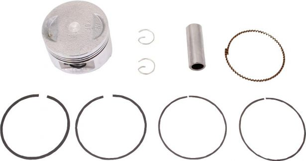 Piston and Ring Set - 150cc, 57.4mm, 15mm, GY6 (9pcs)