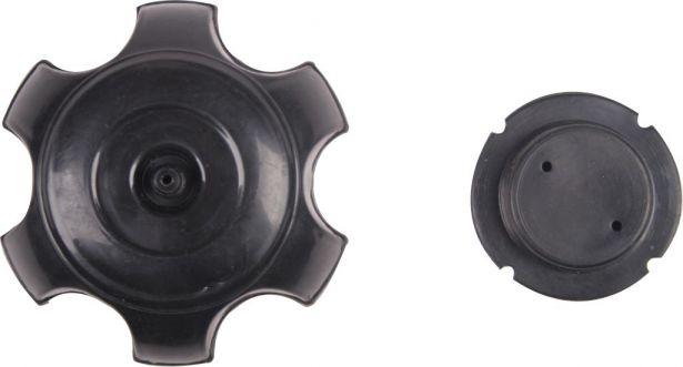 Fuel Tank Cap - Plastic, Black