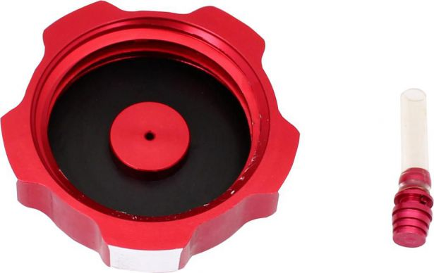 Fuel Tank Cap - Red, Aluminum