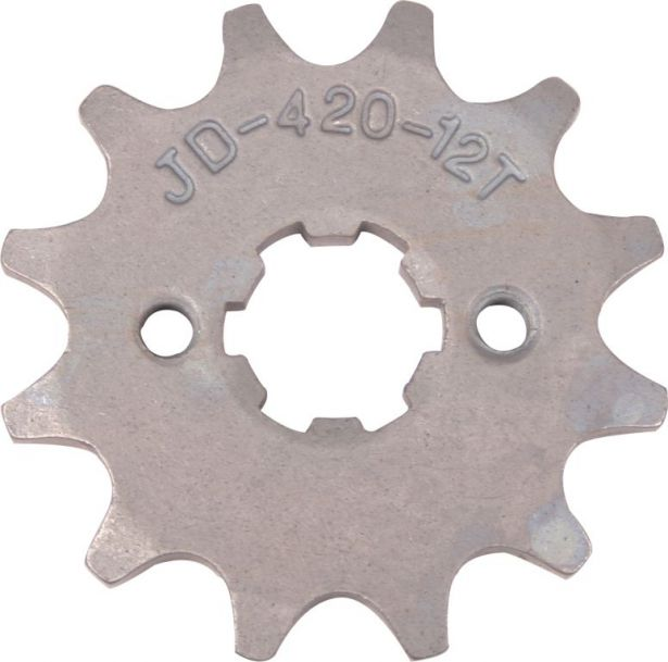 Sprocket - Front, 12 Tooth, 420 Chain, 17mm Hole