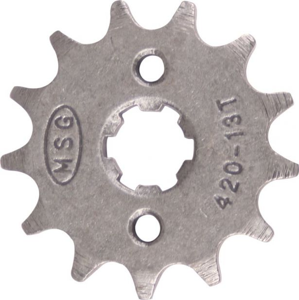 Sprocket - Front, 13 Tooth, 420 Chain, 17mm Hole