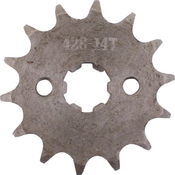 Sprocket - Front, 14 Tooth, 428 Chain, 17mm Hole