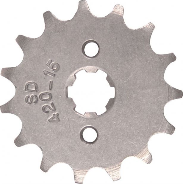 Sprocket - Front, 15 Tooth, 420 Chain, 17mm Hole