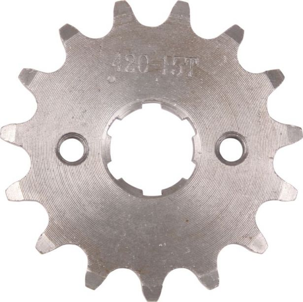 Sprocket - Front, 15 Tooth, 420 Chain, 20mm Hole