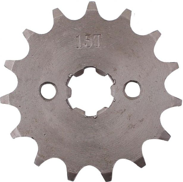 Sprocket - Front, 15 Tooth, 428 Chain, 17mm Hole