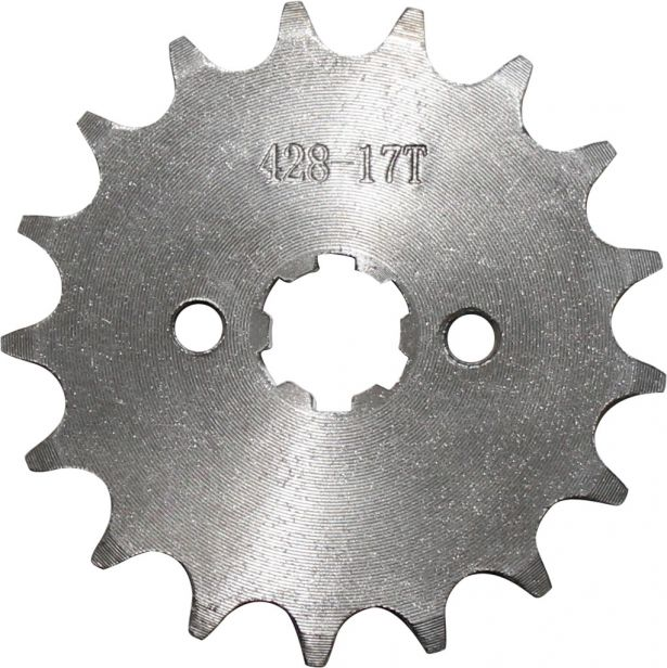 Sprocket - Front, 17 Tooth, 428 Chain, 17mm Hole