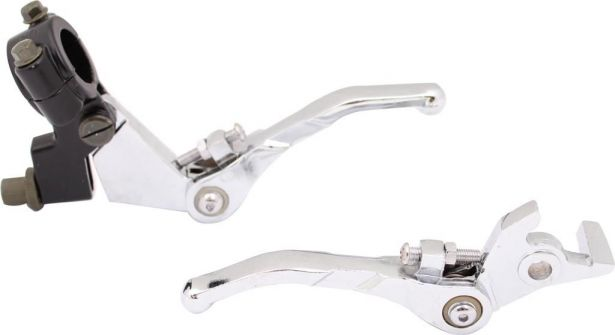 Brake & Clutch Lever Set - Collapsible, Aluminum, Performance