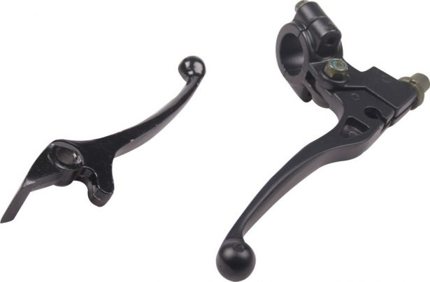Brake & Clutch Lever Set - Aluminum, Black